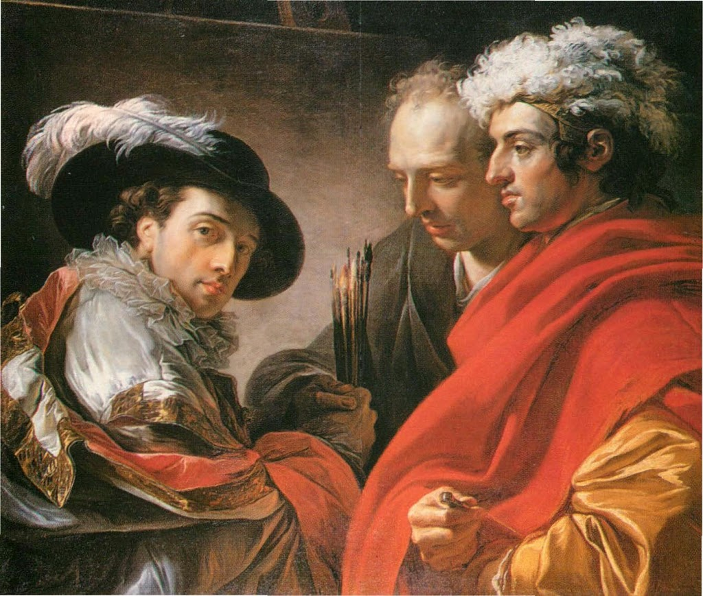 François-André Vincent - Portrait of Three Men, 1775.