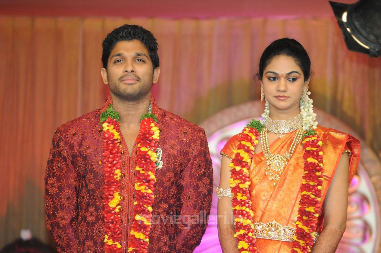 Allu Arjun Sneha Reddy Wedding Reception Photos ~ Cinindya