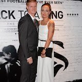 WWW.ENTSIMAGES.COM -   Alan Tate and Rachel Stuckey arriving    at      THE UK PREMIERE OF (JACK TO A KING) THE SWANSEA STORY at EMPIRE, LEICESTER SQUARE London September 12th 2014.The movie of Swansea City's rise from near extinction to the top of the Premier League                                                 Photo Mobis Photos/OIC 0203 174 1069