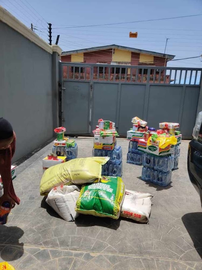 Covid19: Lagos Landlord surprises tenants with food items