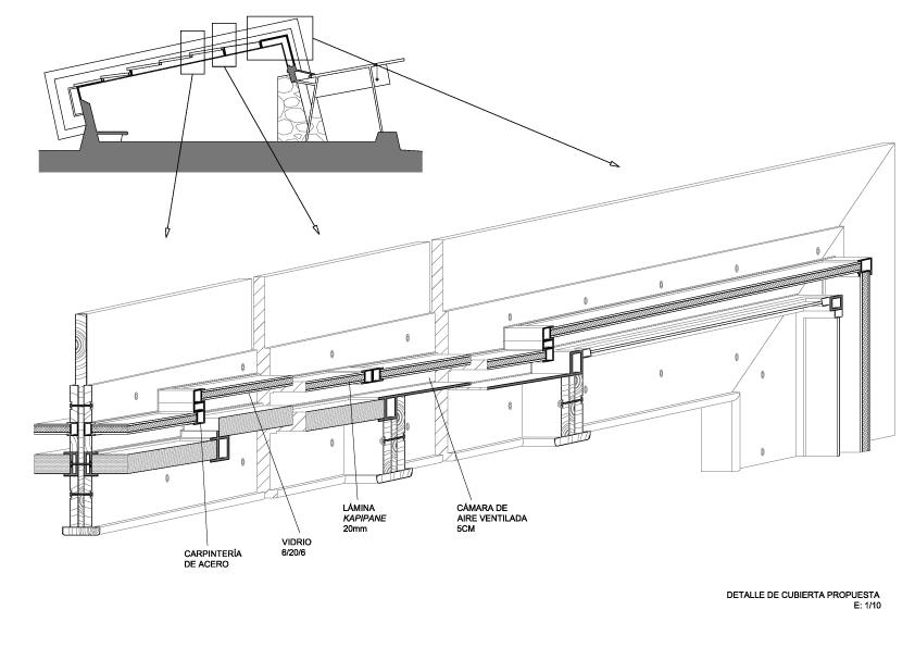 Apraiz arquitecto aparejador detalles y otros - Detalle constructivo techo ...