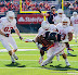 Tommy Davis #17 is tackled after an interception (NCAA Football: Illinois 17 vs. Indiana 31, October 27, 2012, Memorial Stadium, Champaign, IL)