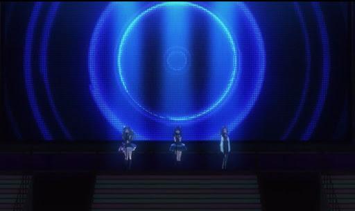 [スクリーンショット]アニメ「シンデレラガールズ」22話、Triad Primusのライブシーン