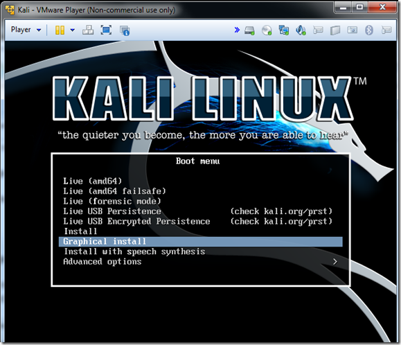 Kali Linux Howto's: How To Install Kali Linux In VMware Player