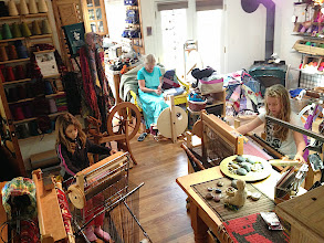 Photo: weaving and spinning classes for families