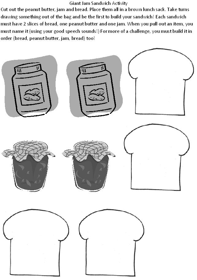 giant jam sandwich coloring pages - photo#16