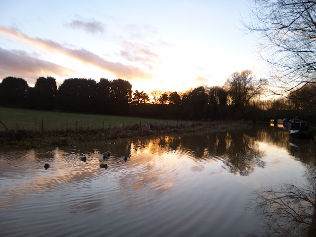 Winter sunset over the canal