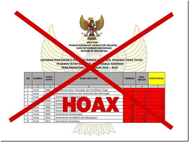 hoax formasi cpns 2018