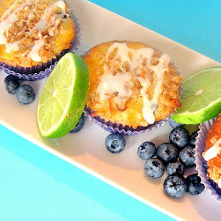 Blueberry Muffins with Coconut Lime Glaze Recipe