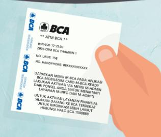 struk bukti pendaftaran BCA Mobile