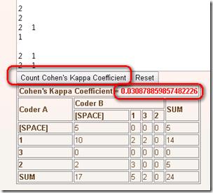 cohen kappa intercoder reliability cohen 39 s kappa coefficient counter. Black Bedroom Furniture Sets. Home Design Ideas