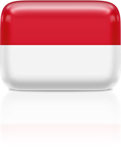 Indonesian flag clipart rectangular
