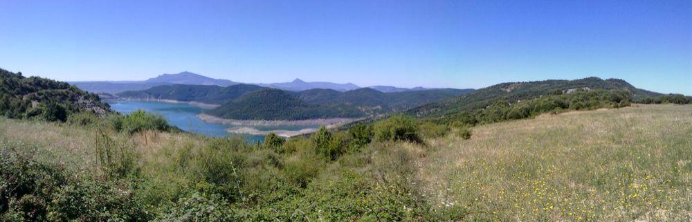 Pantano de Itoiz desde Osa