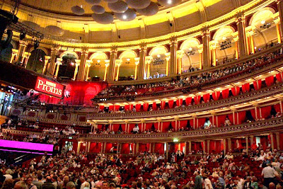 Interior of Royal Albert Hall during the Proms in England