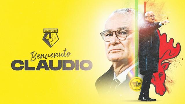 Claudio Ranieri Kini Jurulatih baru Watford