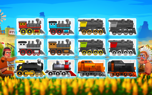 Western Train Driving Race screenshot 1