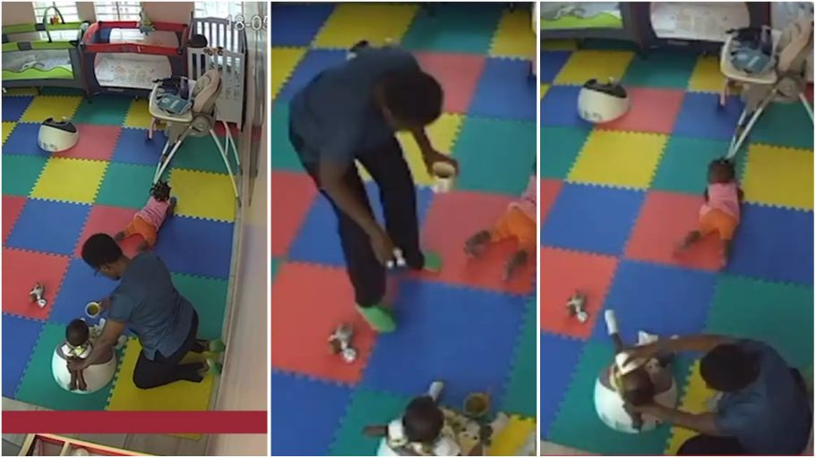 Sad video of how a 54-year-old caregiver maltreated an 11-month-old baby leading to her death shared online