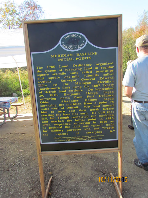 One side of a marker to be installed permanently.