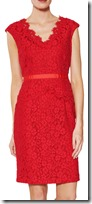 Gina Bacconi Lace peplum dress