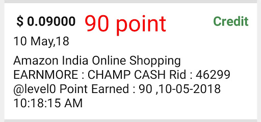 How to complate  amazon india online shopping earn more offer in champ cash