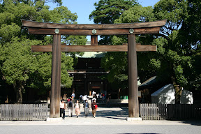 Torii at Meiji Jingu Shrine