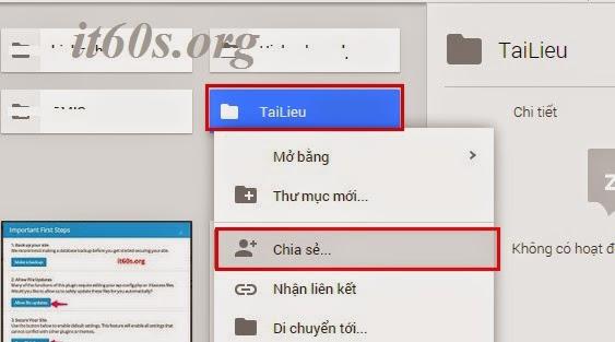 Cách nhúng tài liệu vào trang Web thông qua Google Drive 3