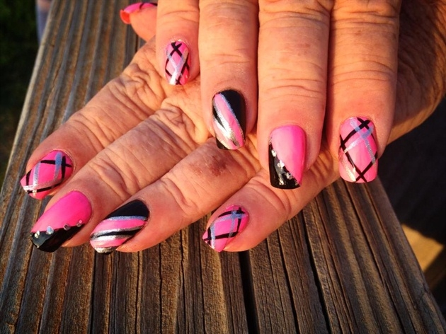 Pink And Silver Nail Art Designs 2016 Fashionte