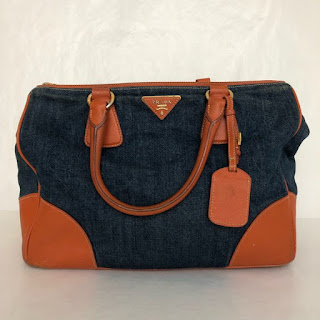 Prada Denim Shoulder Bag