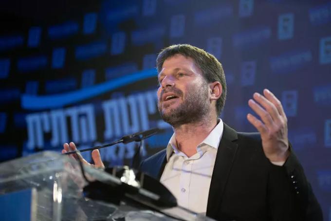 Smotrich está rejeitando trabalhar com o partido islâmico Ra'am