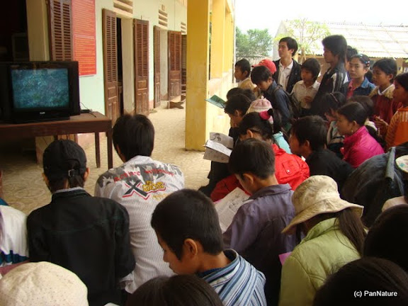 A video show about the Tonkin Snub-nosed Monkey at school.