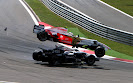 Giancarlo Fisichella (ITA) Force India F1 VJM01 and Kazuki Nakajima (JPN) Williams FW30 crash at the start of the race