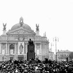 lenin_002_Митинг, посвященный открытию памятника В.И. Ленину во Львове, состоялся 20 января в 1952 г. [Ф3].jpg