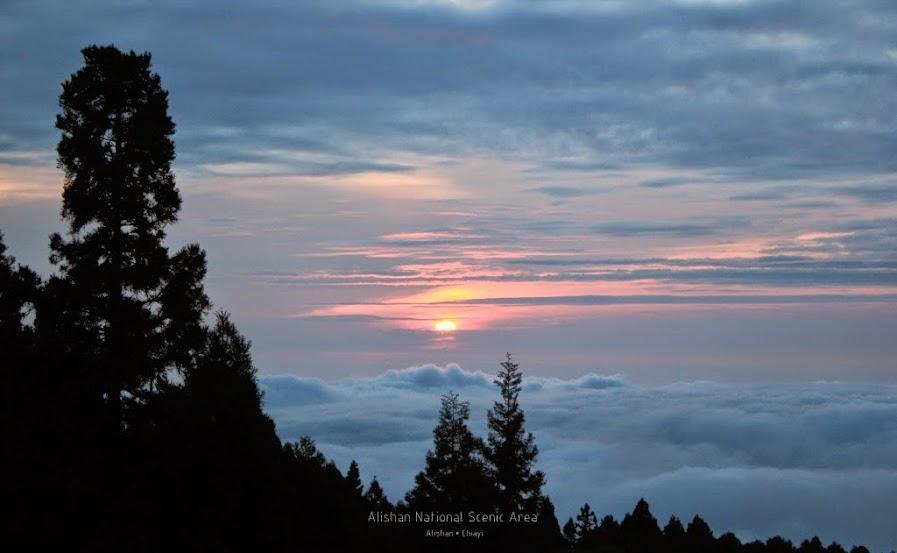嘉義阿里山夕陽-6