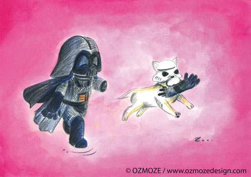 Star wars and their Dog (dark vador, Série)
