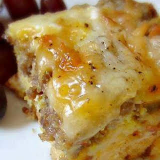 Sausage, Egg And Biscuits Casserole.