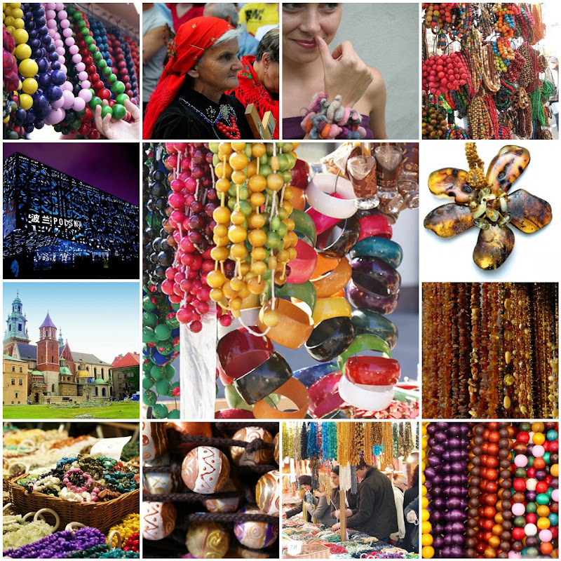 Polish Beads and Jewelry Photo Collage