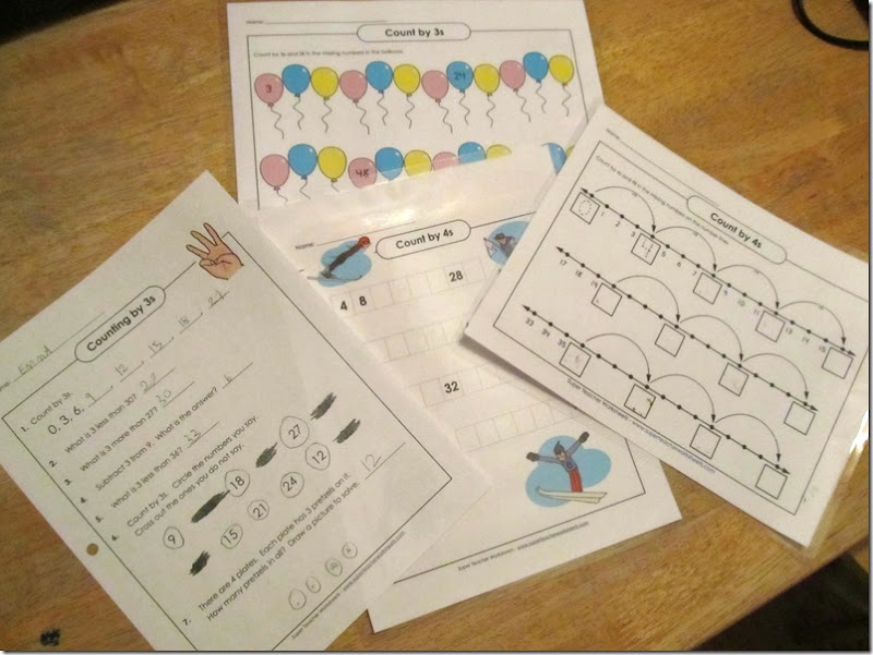 Super Teacher Worksheets skip counting