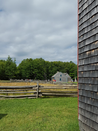 bucolic farmland at Village Historique Acadien, New Brunswick, Canada