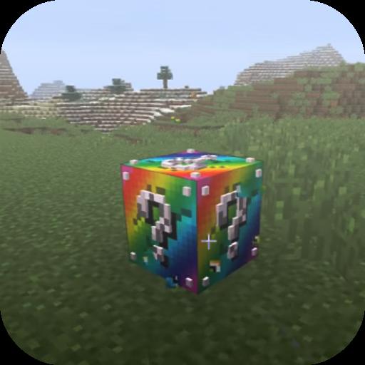 Rainbow lucky block addon for MCPE