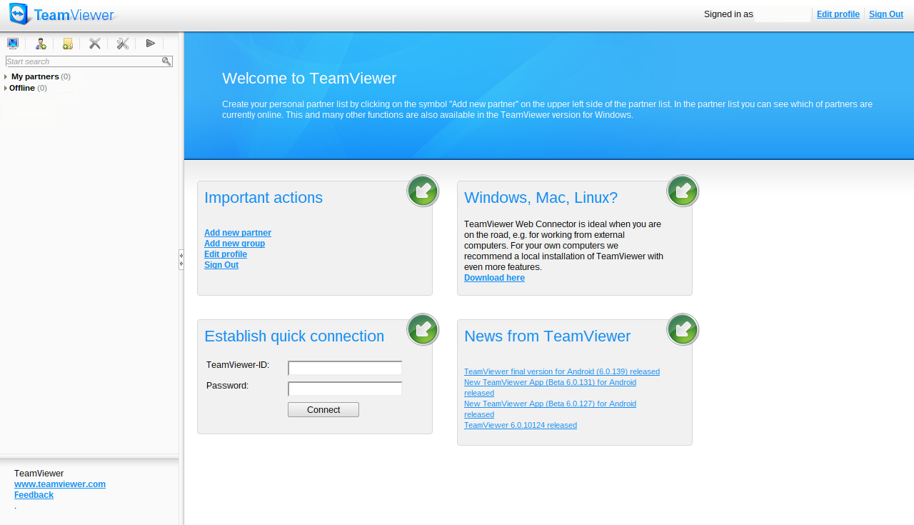 my cr48: TeamViewer