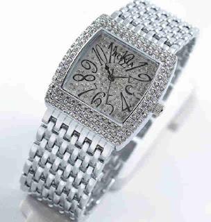 Jam tangan Bonia full diamond Silver