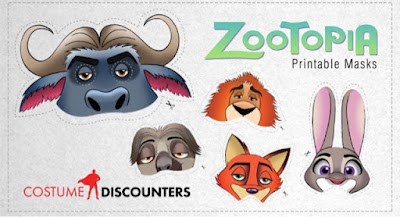Zootopia printable masks