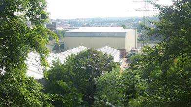 Photo: Industriehalle in Eckesey vom unteren Volmehang-Weg der Osterhalle gesehen.