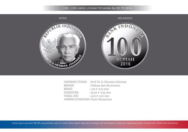 uang NKRI baru Rp100 logam