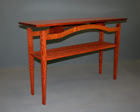 Photo: Hall Table,  River Red gum. Silky Oak Paul Sheppard