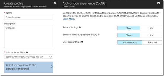 Windows Autopilot Deployment heading to Azure portal – CIAOPS
