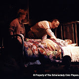 Donna Newton, Jeffrey Knight and Christopher Foster in LOOK HOMEWARD, ANGEL (R) - March 1994.  Property of The Schenectady Civic Players Theater Archive.