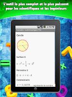 Screenshot of Fórmulas Matemáticas
