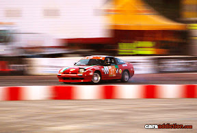 REd Nissan drifting
