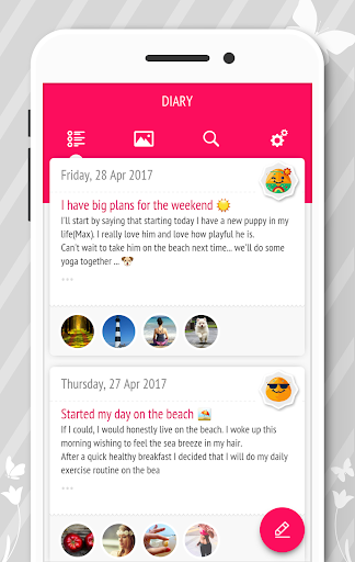 Diary - Journal with password screenshot 1